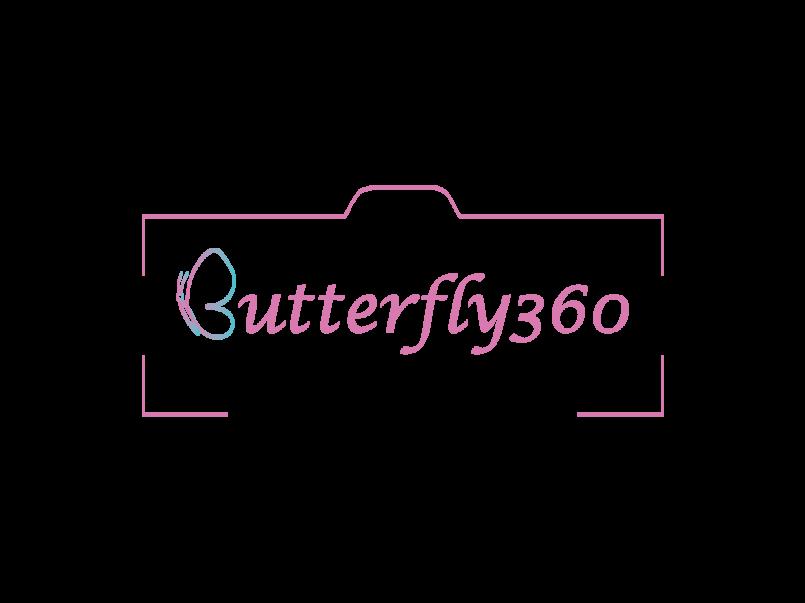 لوجو لاستديو butterfly360 لتصوير الافراح