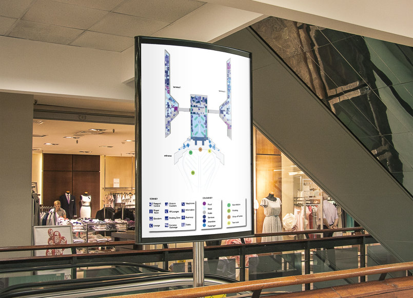 Queen Alia International Airport Mapping system