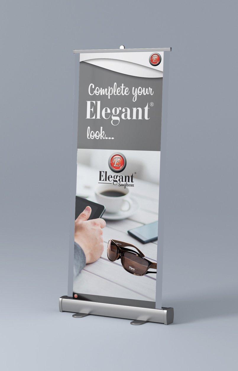 تصميم ٣ لوحات فنية لشركة النظارات Elegant