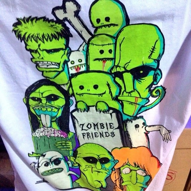 Zombie t-shirt has made the best-selling on March 2014 Art event at KAUST.