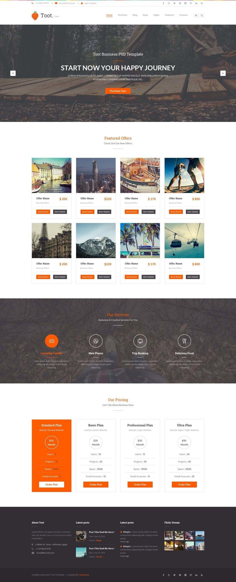 Toot – Multi-purpose Business HTML Template