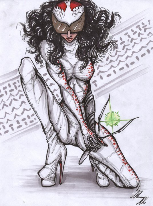 The character design of the main protagonist, Fida2, from Shamekh Al-Bluwi's futuristic story ...