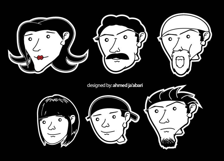The characters from Ahmed Ja'abari's story about channeling emotions ...