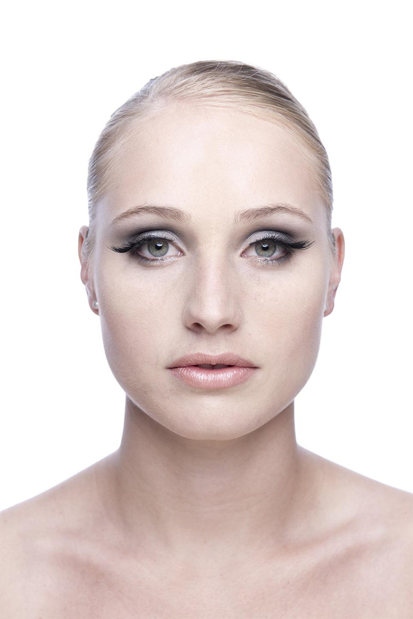 Woman face retouching