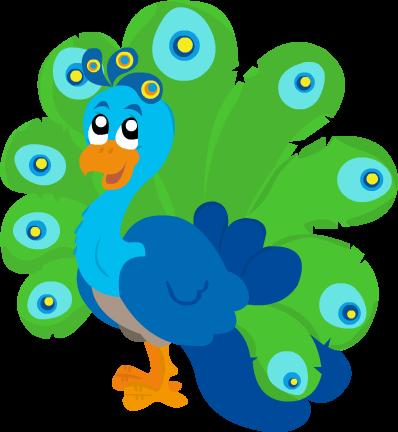 رسمة طاووس للعبة لتعليم الاطفال الحروف