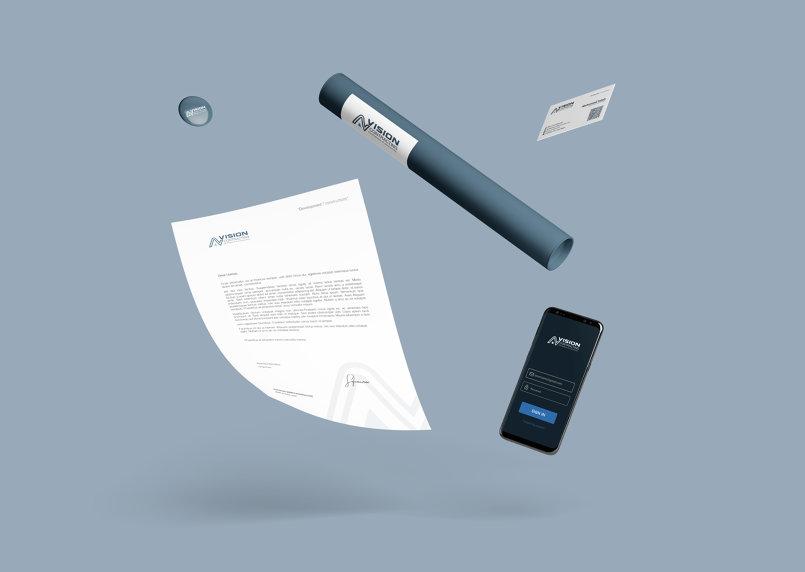 AV Vision Contracting co. Branding Identity