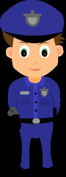 رسمة شرطي للعبة لتعليم الاطفال الحروف