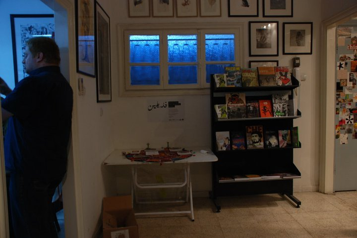 Sami Nazer, the owner of 16:9 [Widescreen] provided us with a diverse collection of graphic novels and comics for the duration of our project - the one that you seen in the entrance