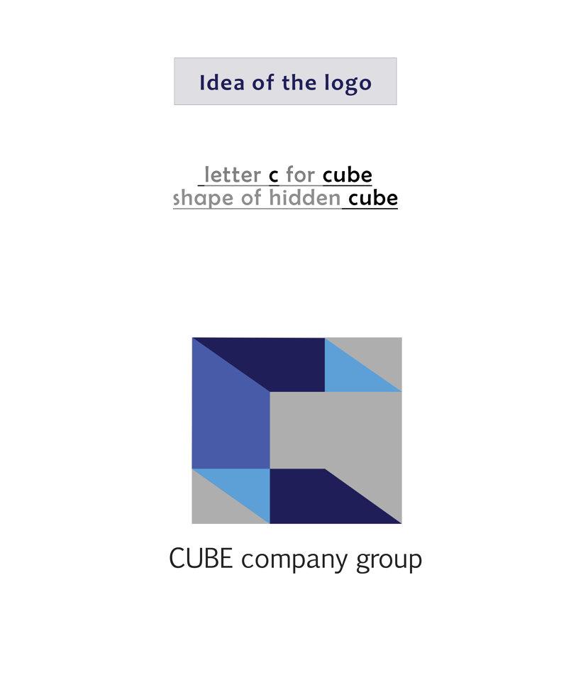 تصميم شعار وهوية كيوب Cube company logo&stationery