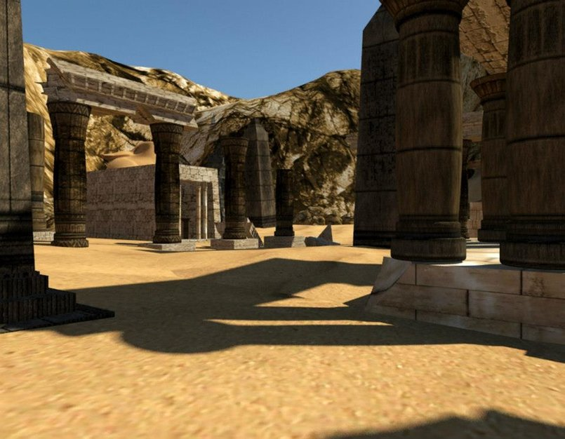 Ancient Egyptian Necropolis (3Ds max)