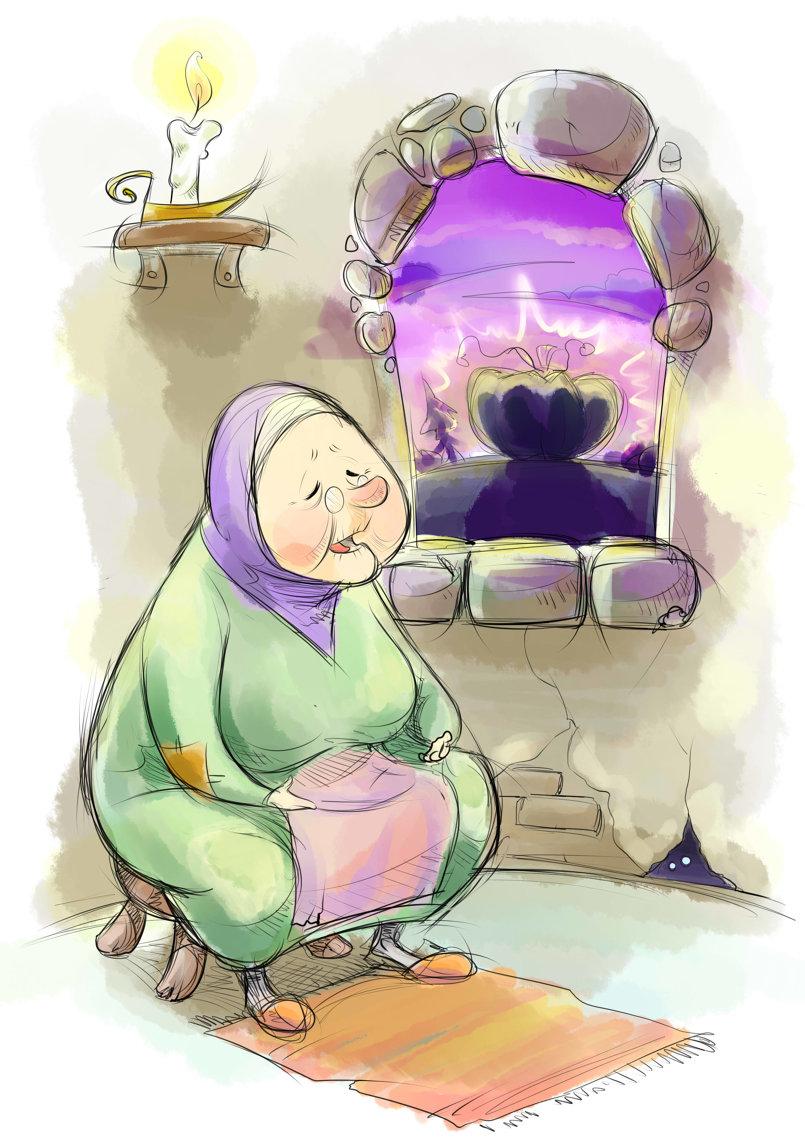 مشهد من مجموعة قصصية بعنوان (اليقطين العجيب) التابعة لمجلة الحسيني الصغير في العراق