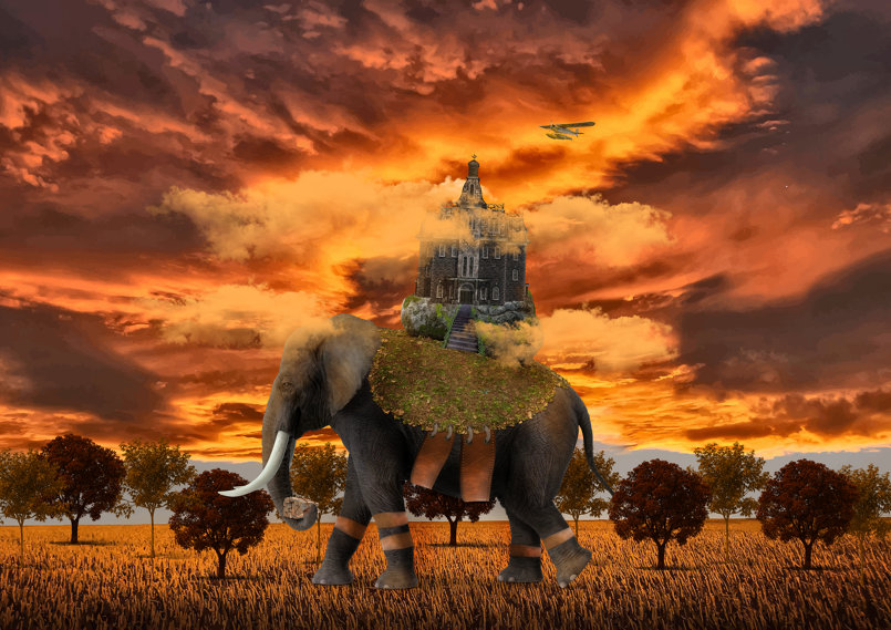Elephant photo manipulation