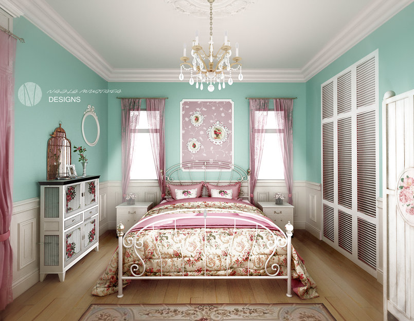 flowral bedroom