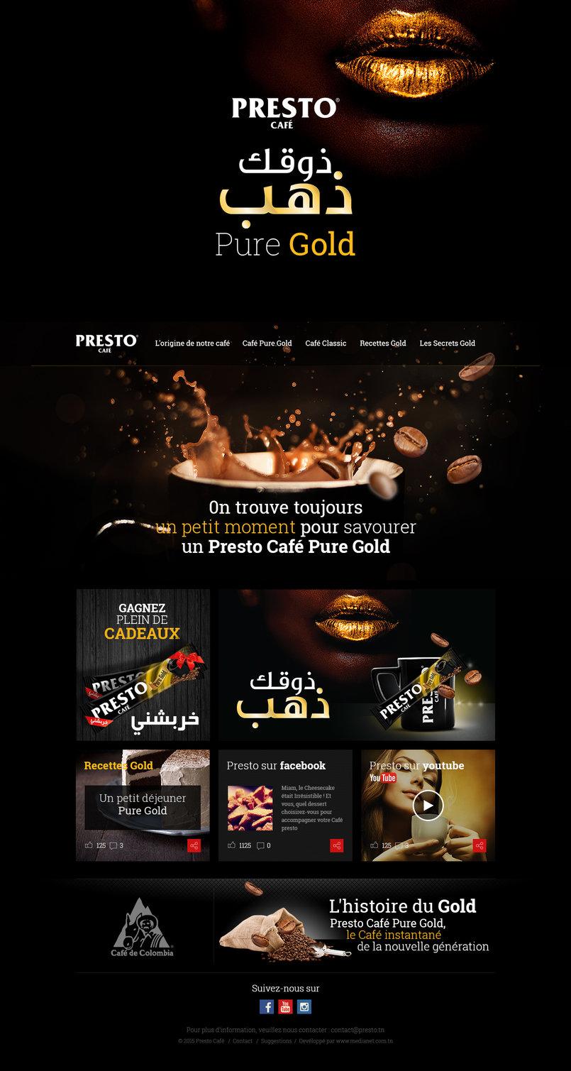 Presto site web