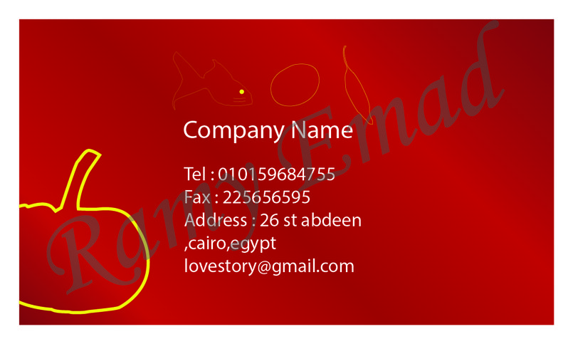 business card for restaurant