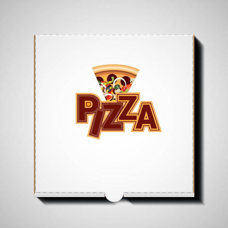 logo pizza-- شعار محل بيتزا