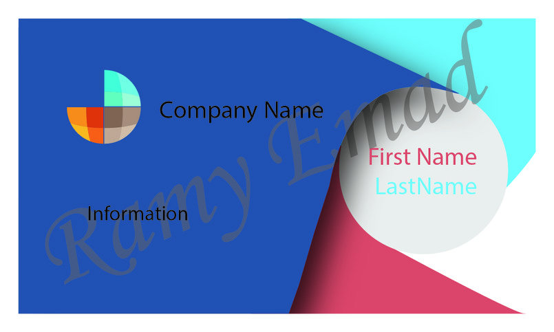 business card for education company