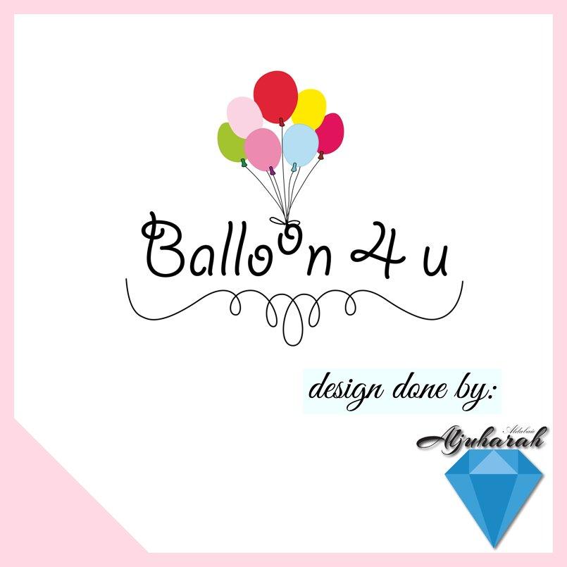 شعار لمحل بالونات