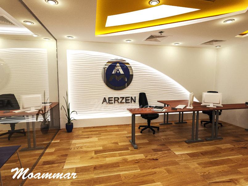 تصميم داخلي لمكتب شركة آرزن بمدينة الجبيل الصناعية بالسعودية