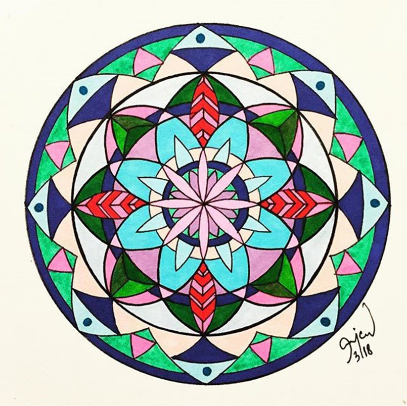 Mandala Drawing Markers