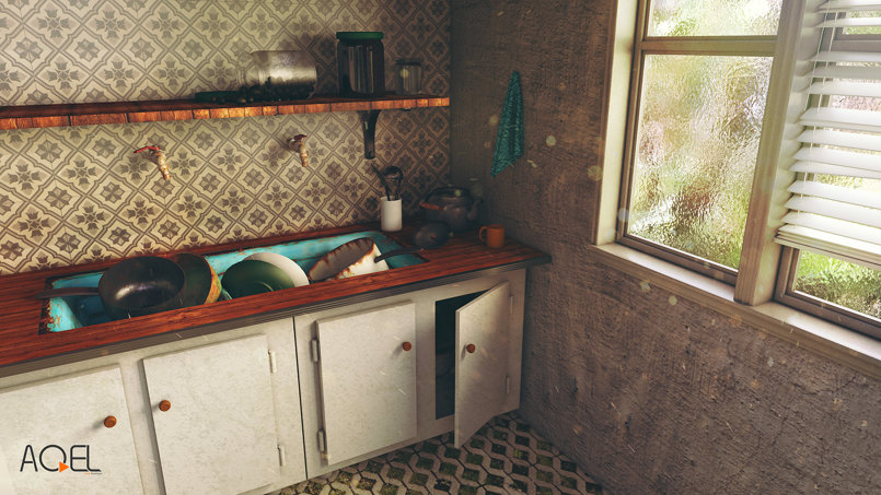 Morning Kitchen (3D Scene)