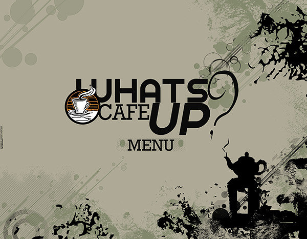Whats Up CAFE - MENU + Logo