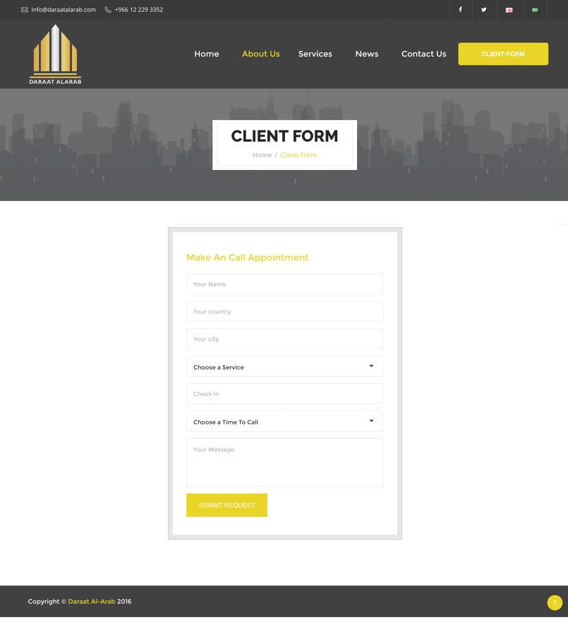 Client form Page