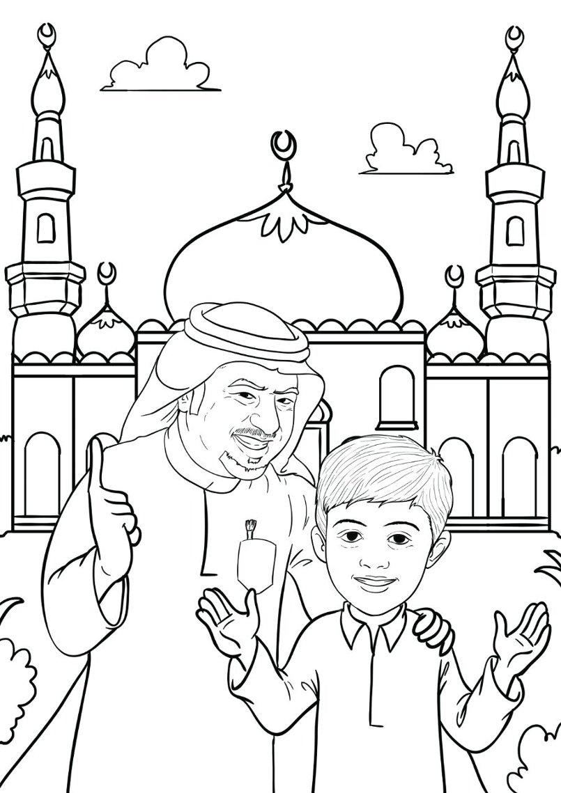 من اعمالي ...قصة تلوين للاطفال لشخصيات حقيقية