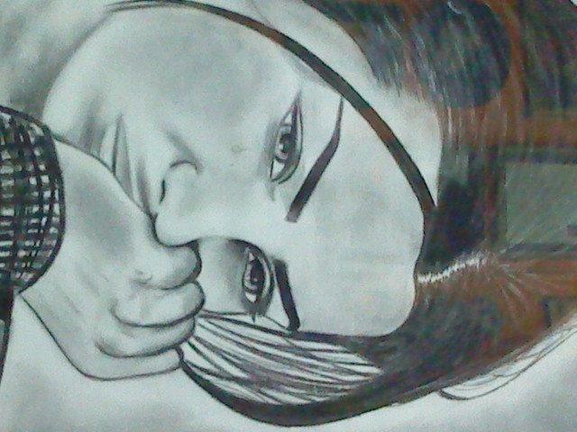 رسم بالقلم الفحم والرصاص والجاف