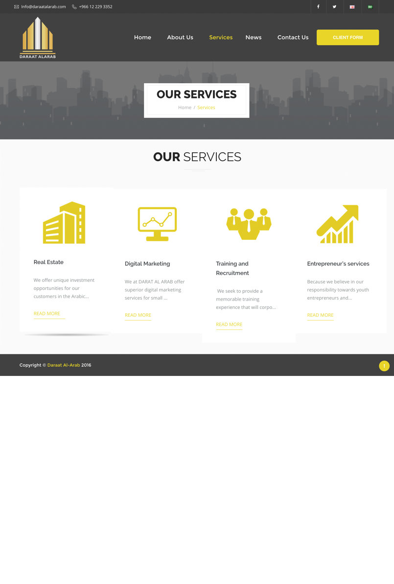 Our Services Page