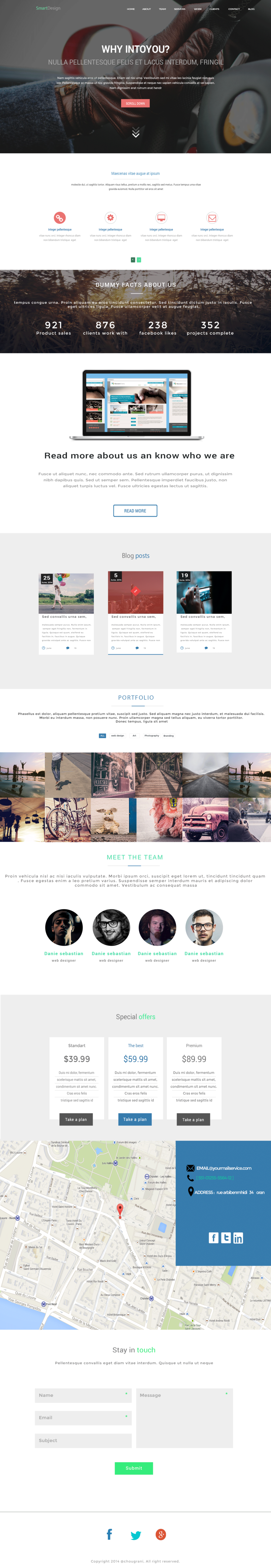 Yourinto-one page template
