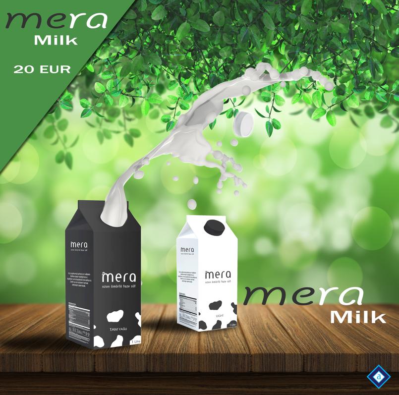 An explosive demo milk - تصميم دعائى لمنتج لبن