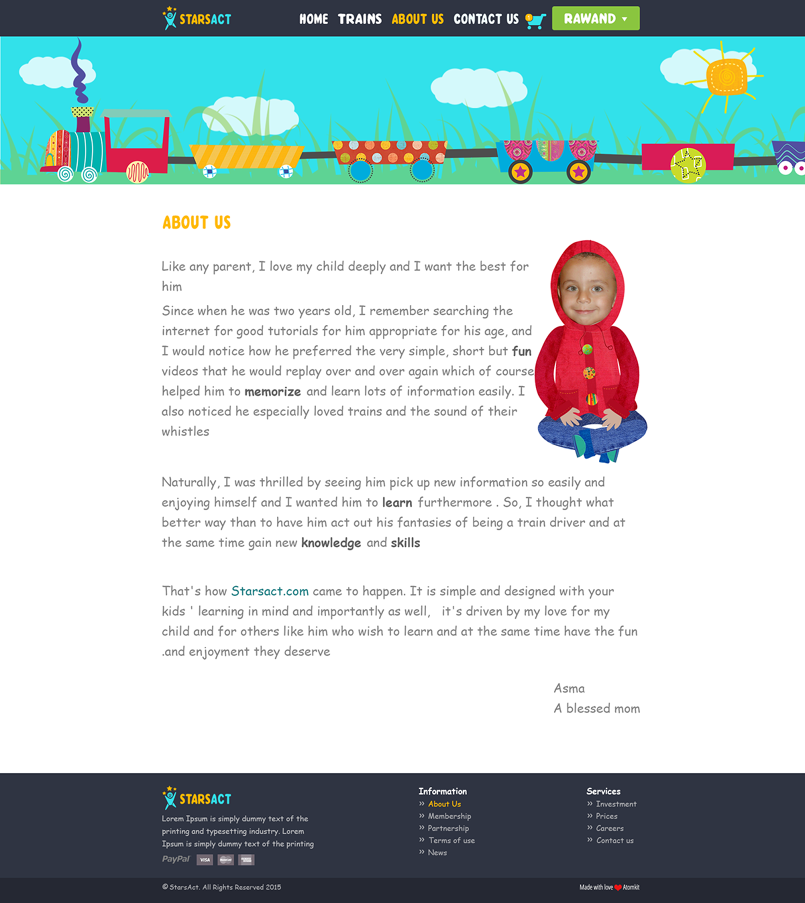Educational Website for Kids