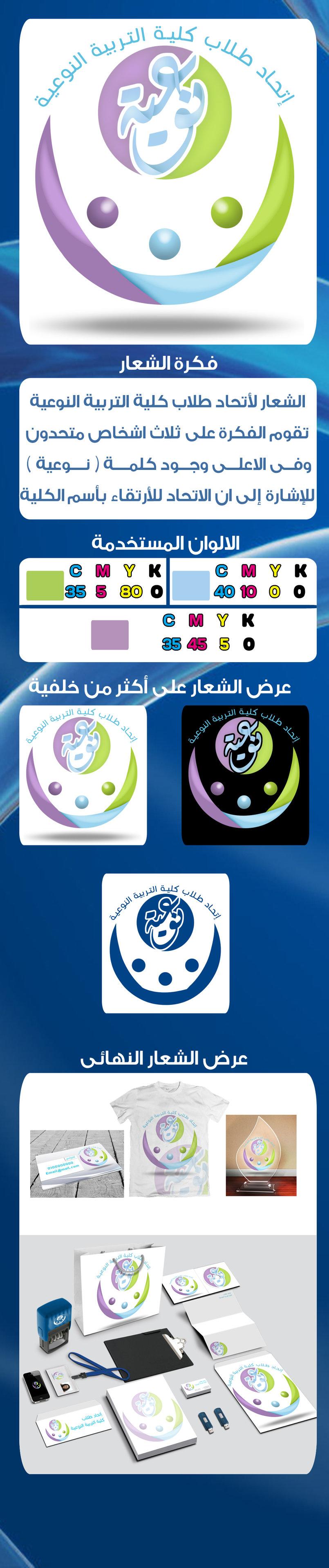 شعار لأتحاد طلاب كلية التربية النوعية جامعة المنيا