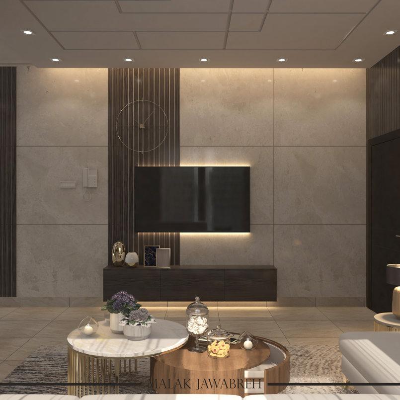 غرفة معيشة بمدينة الرياض
