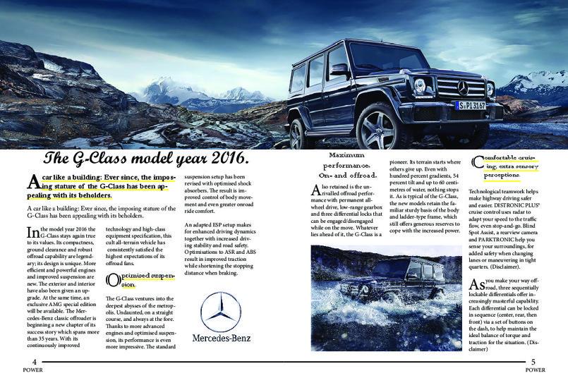 صفحتين من المجلة التي قمت بتصميمها