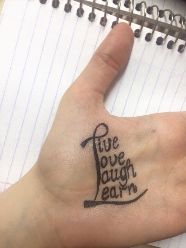 الرسم بالحروف علة اليد