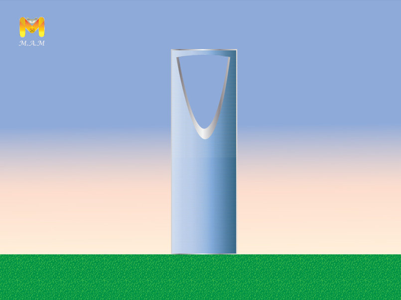 برج المملكة - رسم رقمي