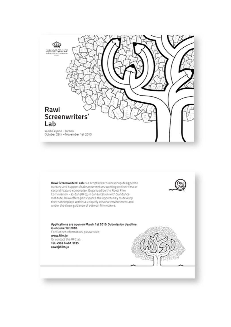 Artwork for Rawi Screenwriters' Lab. 2010.