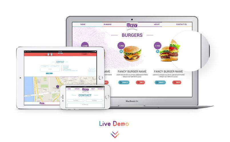 Miza Takeaway_تصميم شعار وهوية كاملة لسلسلة محلات أكلات سريعة