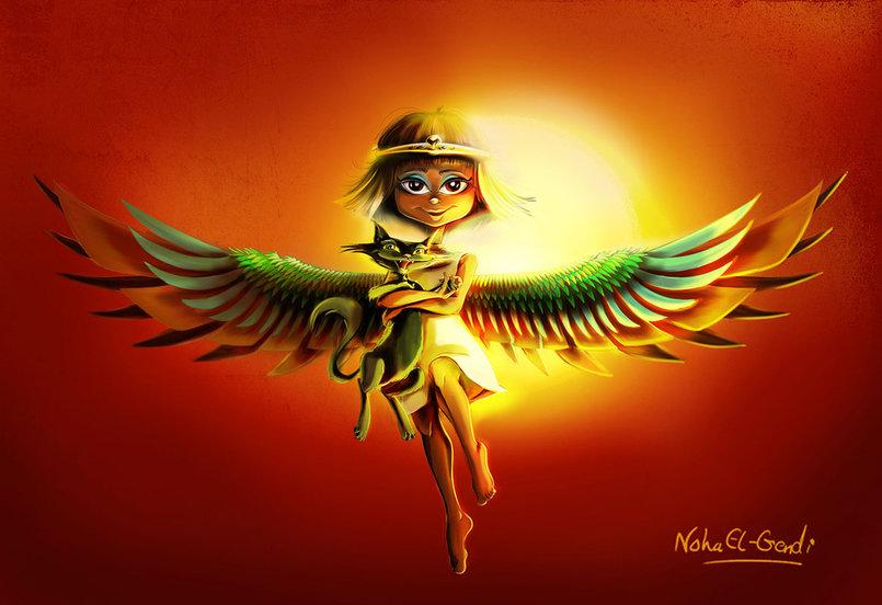 Winged Pharaonic Girl