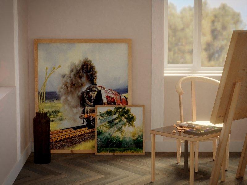 Artist Room on 3d World - غرفة فنان في عالم ثلاثي الابعاد