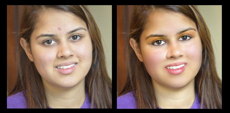photos retouching and digital makeup