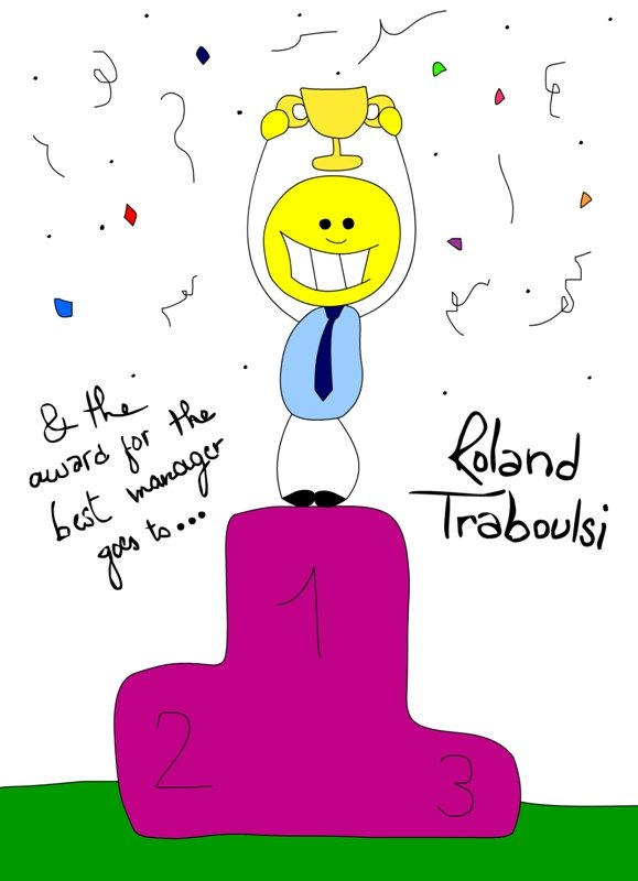 roland traboulsi.. best manager of the year.. and certainly every year!