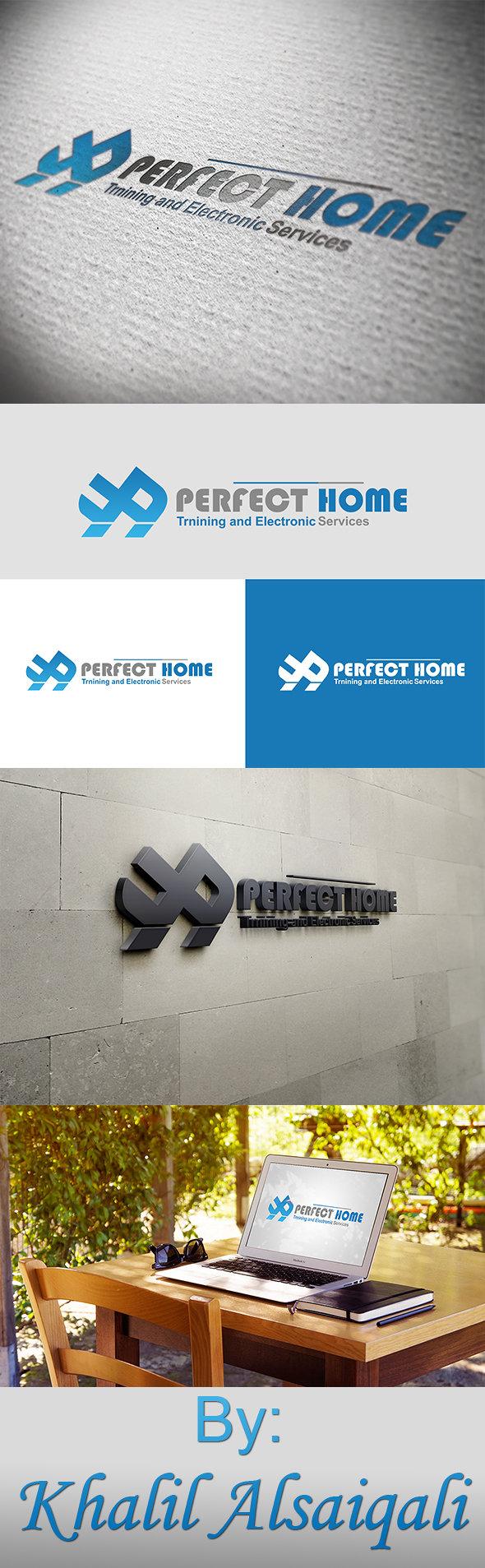 تصميم شعار شركة بيرفكت هوم