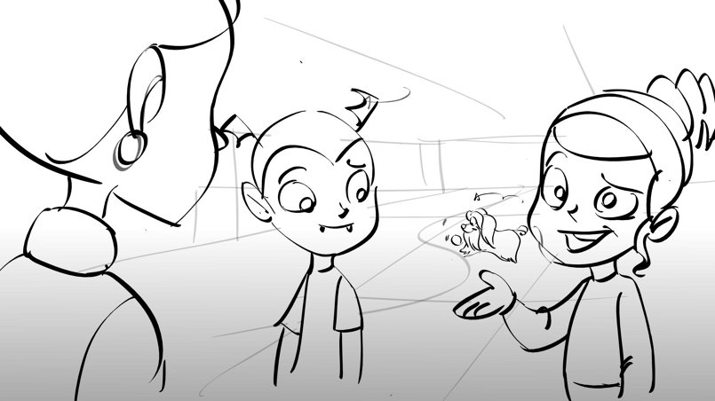 DisneyJr.s Vampirina storyboard for Brown Bag Films,Ireland
