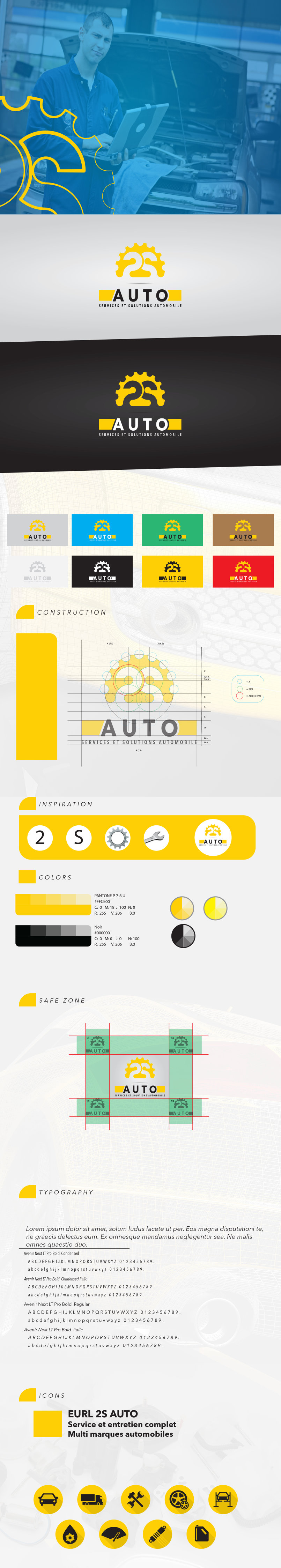 2s Auto Logo And Guidelines By Houssem Bousri Houssembousri108211