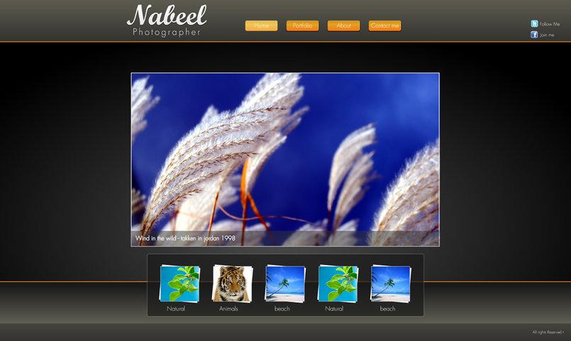 photographer website. (freelance work)