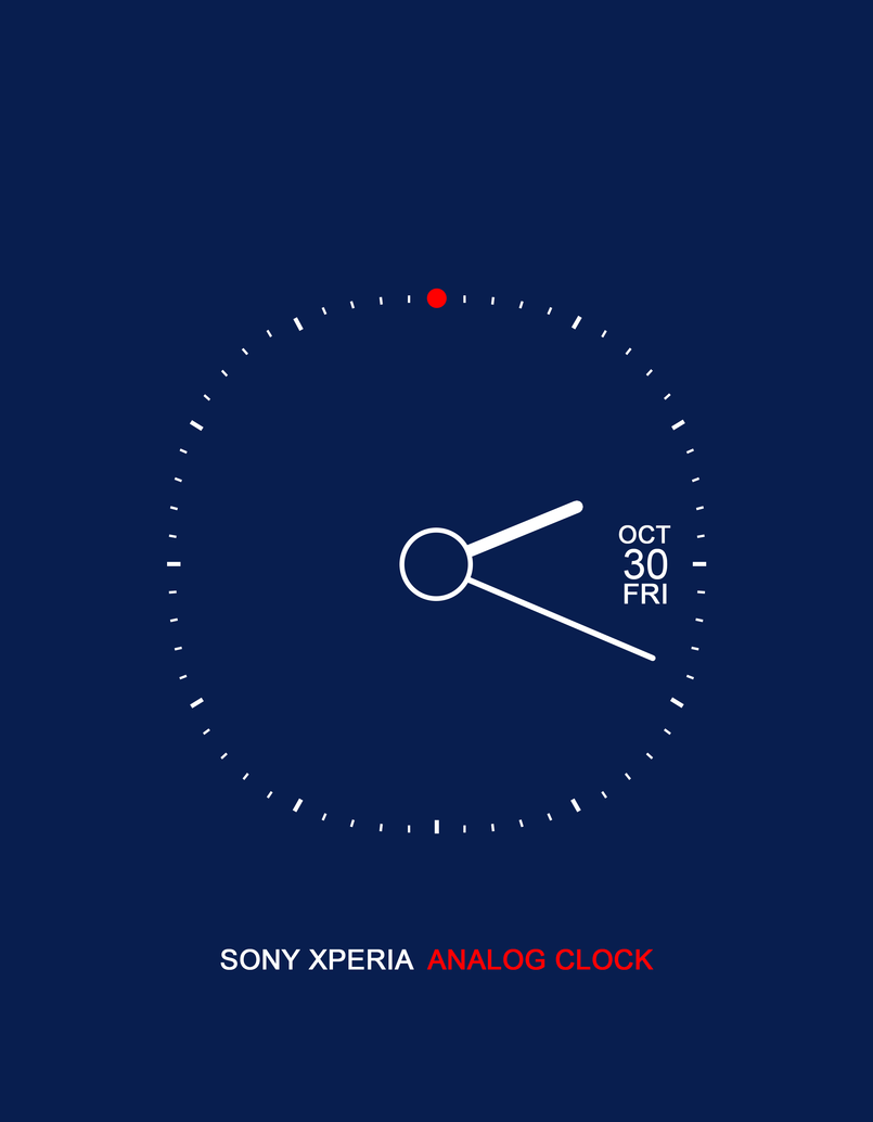 Sony Xperia Analog Clock - Blue