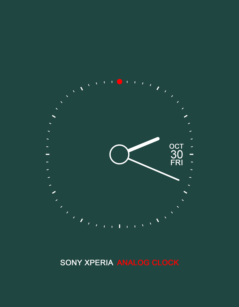 Sony Xperia Analog Clock - Green